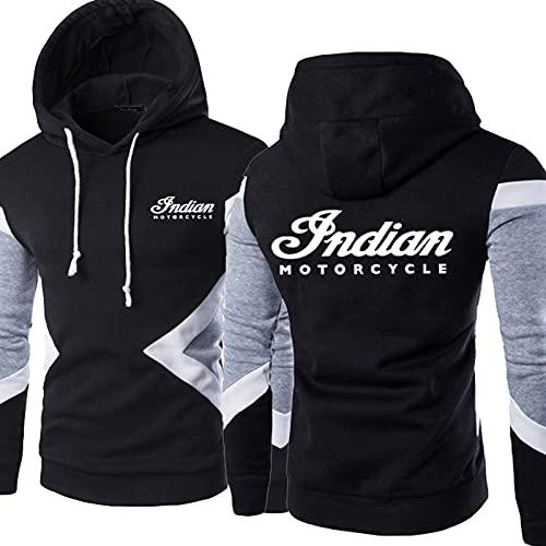 Sudadera con Capucha para Hombre Pullove Indian Printed Sweatshirt Chaqueta con Capucha Unisex de Manga Larga Informal con Capucha - Regalo para Adolescentes