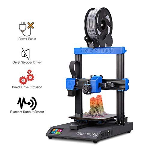 Artillery Genius 3D Printer - 3D Printer with I3 High-Precision Desktop Dual Z-Axis 98% Integrity TFT Screen Mute Printer, 220 x 220 x 250 mm