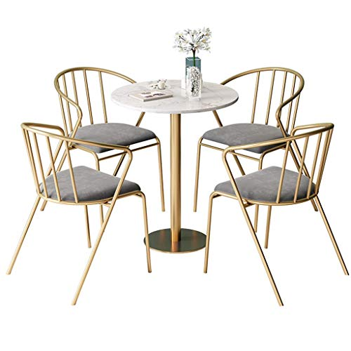 CHAIR Silla bar, cafetería, silla de restaurante, juego de 5 piezas Taburete de bar y mesas de bar Juego de sillas de comedor Taburetes de bar para el desayuno Mostrador de la cocina Bistro Pub Café