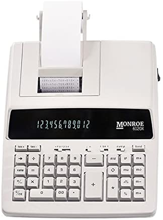 $78 » Monroe Systems for Business 6120X Genuine Monroe 12-Digit Print/Display Business Medium-Duty Calculator, Ivory
