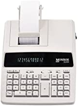 $75 » Monroe Systems for Business 6120X Genuine Monroe 12-Digit Print/Display Business Medium-Duty Calculator, Ivory