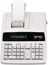 $73 » Monroe Systems for Business 6120X Genuine Monroe 12-Digit Print/Display Business Medium-Duty Calculator, Ivory