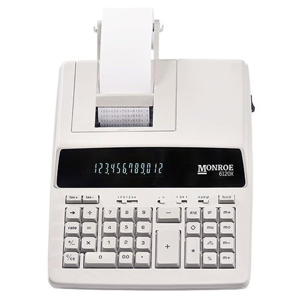 検体思い出す乳剤モンローシステムforビジネス6120?X純正モンロー12桁印刷/表示ビジネスmedium-duty電卓、アイボリー