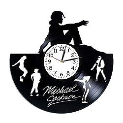 Kovides Michael Jackson Clock Lp Vinyl Retro Record Wall Clock Modern Music Art King of Pop Gift Birthday Gift for Woman Michael Jackson Gift Xmas Gift Idea for Fan Wall Clock Exclusive