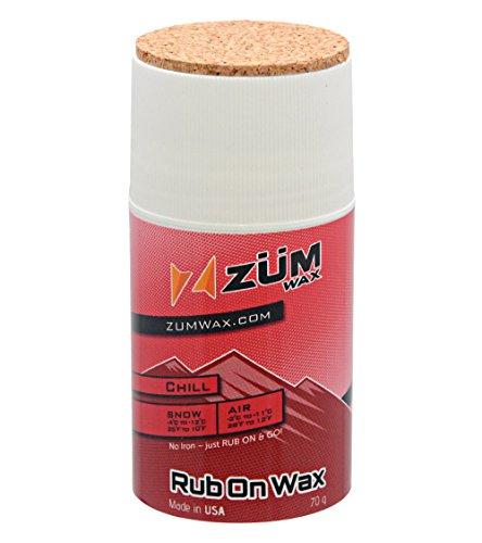 ZUMWax RUB ON WAX Ski/Snowboard - CHILL Temperature - 70 gram - INCREDIBLY FAST!!! by ZUMWax
