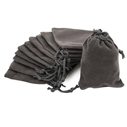Shintop 10pcs Velvet Drawstring Bags Wedding Gift Bags Velvet Cloth Jewelry Pouches