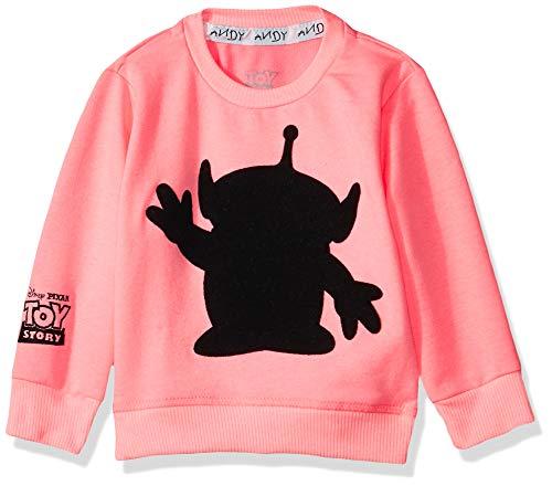 Toy Story Sudadera Chaqueta para Niñas, color Rosa/Negro, 6