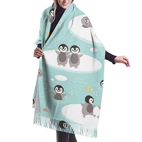 Jingliwang Bufandas Abrigo Chal Baby PenguinsImitation cashmere shawl cover-extra large thick soft scarf
