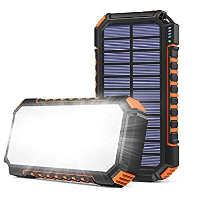 SOARAISE Solar Charger 26800mAh, Portable Solar Power Bank with 60 Bright LEDs and 3 USB Outputs, Quick Charging Solar Phone Charger Battery for iPhone Samsung Camping and Outdoor