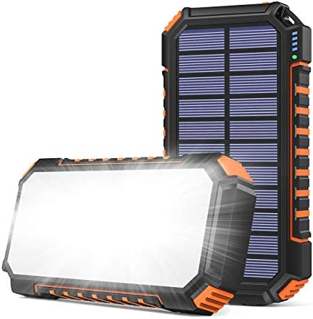 SOARAISE Solar Charger 26800mAh Portable Solar Power Bank with 60 Bright LEDs and 3 USB Outputs product image
