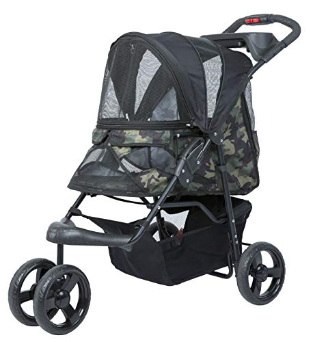 PETIQUE Pet Stroller, Green Camo, One Size (ST01030103)