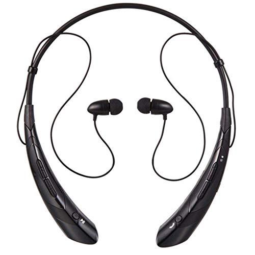 Bluetooth Sport Kopfhörer Hängender Hals Metall Ohr Muschel Super gute Klangqualität (Schwarz)