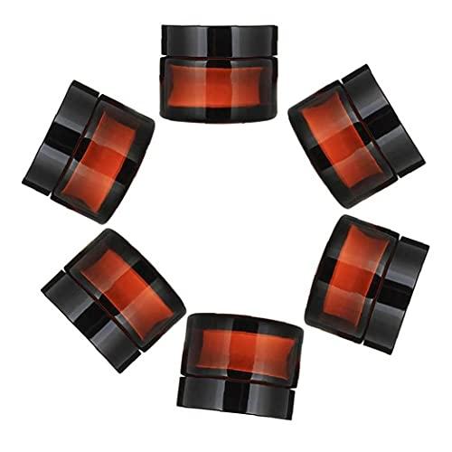 iuNWjvDU Vaciar Las Botellas de Vidrio ámbar tarros envases de Productos cosméticos Crema loción en Polvo Ollas Viajes contenedores 6pcs