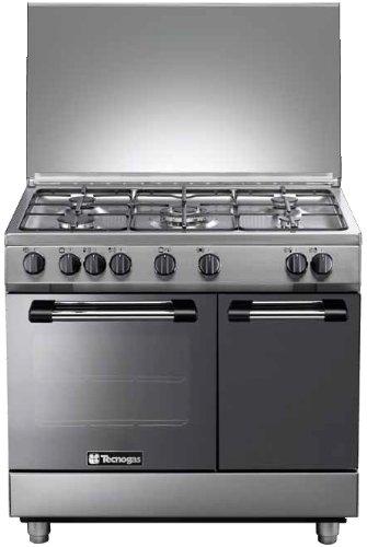 Tecnogas PB965GVX Libera installazione Piano cottura a gas Acciaio inossidabile cucina