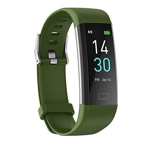 DUTUI Sportuhr, Multisportmodus-Kalorienverbrauchsuhr wasserdichte Bluetooth-Uhr, Angenehm Zu Tragen,Grün