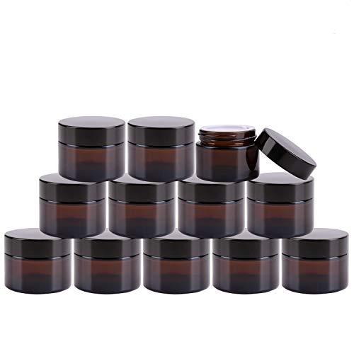 amber glass salve jars - 4