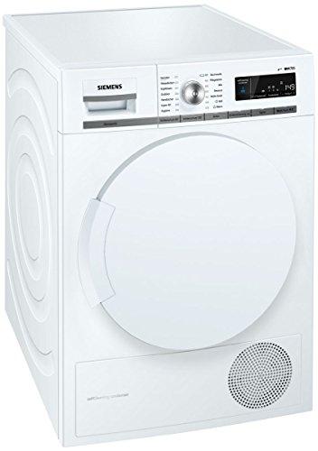 Siemens iQ700 WT44W5W0 iSensoric Premium Wärmepumpentrockner / A+++ / 8 kg / Großes Display mit Endezeitvorwahl / Selbstreinigungs-Automatik