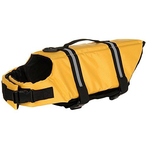 SILD Color Pet Chaleco Salvavidas tamaño Ajustable Perro Salvavidas Seguridad Chaleco Reflectante para Mascotas Salvavidas Chaleco de Vida de Ahorro de Perro Abrigo para natación Surfing(L)