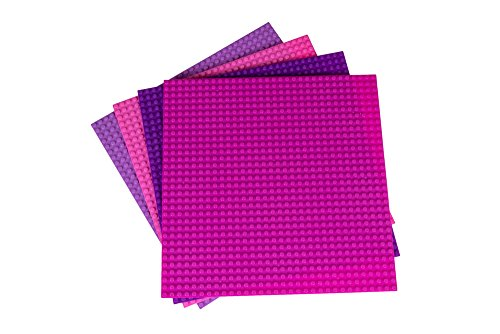 Strictly Briks - Placas de base apilables (25,4 x 25,4 cm, 100% compatibles con todas las principales marcas | placas base para torres de construcción, mesas y mucho más) | tema de 4 niñas