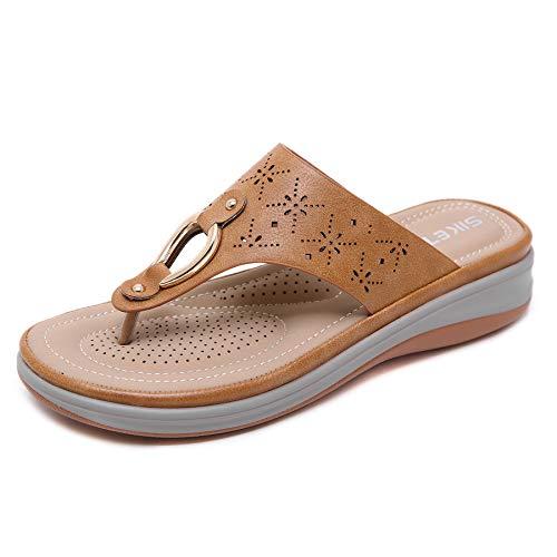Sandalias de Mujer Sandalias clásicas de Verano Zapatos de cuña de Fondo Suave Zapatos de Mujer Tacones Sandalias Chaussures de Playa Femme Zapatos Casuales de Mujer