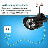 Kit de vigilancia exterior WiFi 4CH inalámbrica seguridad sistema para el hogar - 4 cámaras CCTV 960P inalámbricas con 48Pcs LEDs,4CH WiFi NVR con 7 pulgadas de pantalla y 1TB HDD SWINWAY