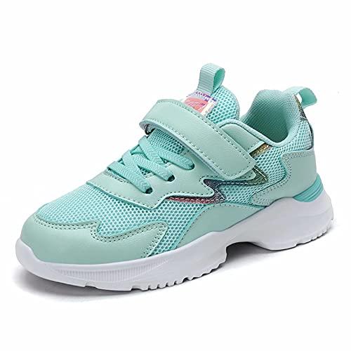 Zapatillas Deporte Niña Bambas Chicas Zapatos Transpirables Tenis Atléticos Caminar Moda Gliter 4-12 años (Número 35,...