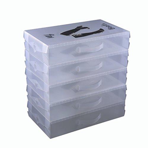 Schuhaufbewahrung Stiefelbox schuhkasten Stiefel 52x30x11cm, 5 St JLA191-5X
