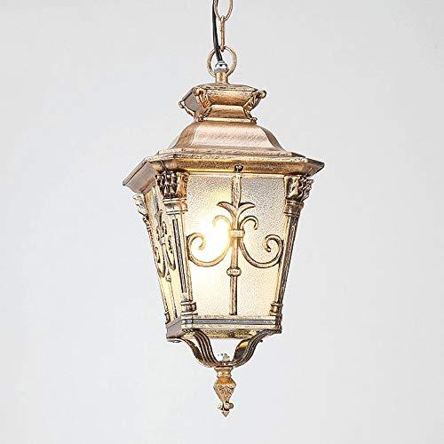 lampadario a sospensione 100w Memnk Lampade a Sospensione IP55 Impermeabile da Interno/Esterno Vintage Lampadario Lampada Lanterna Illuminazione da Giardino Rurale Antico Europeo Gazebo Decor Lighting