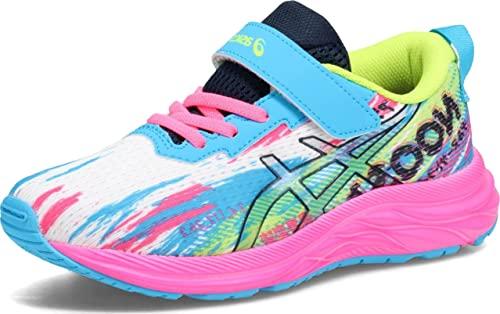 ASICS Kid's Pre Noosa Tri 13 PS Running Shoes, K12, Digital Aqua/HOT Pink