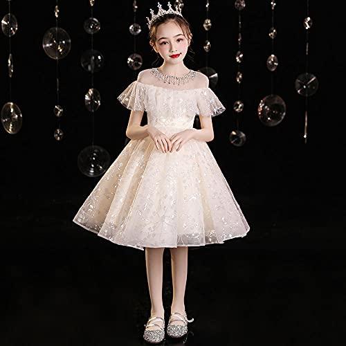 SUNXC Vestido de Fiesta de Princesa, Vestido para niños Vestido de Princesa-One Kind_120 cm, Halloween Navidad Cosplay Vestido de Princesa