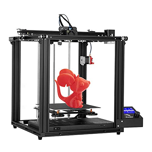 Impresora 3D Creality Ender 5 Pro con marco de extrusi¨®n de metal, tuber¨ªa de PTFE Capricornio Bowden y placa madre silenciosa, volumen de construcci¨®n 220 x 220 x 300 mm
