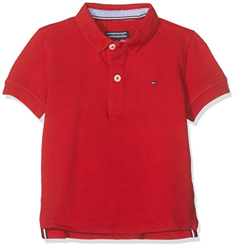 Tommy Hilfiger Boys Tommy Polo S/s, Rojo (Apple Red 600), 12