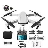 JANEFLY Dron Plegable 4K HD de Doble cámara con cuadricóptero de Altura Fija, un avión de Control Remoto Adecuado para niños y Adultos