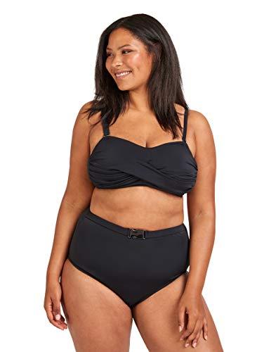 Zizzi Swim by Damen Große Größen Bikini Hose mit Schnalle Gr 42-56