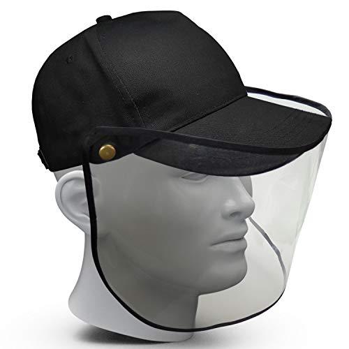 Premium Gesichtschild mit Baseball-Cap klappbares Visier aus Kunststoff Hut mit Schutzschild Gesicht Wiederverwendbarer Gesichtsschutzschild mit Mütze Spritzschutz Mund Nase Auge