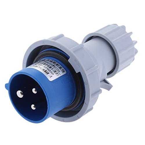 Juego de 3 enchufes acodados con toma de tierra extraplanos, 8 mm, 250 V, 16 A, para cables de hasta 3 x 1,5 mm2 color blanco Superslim
