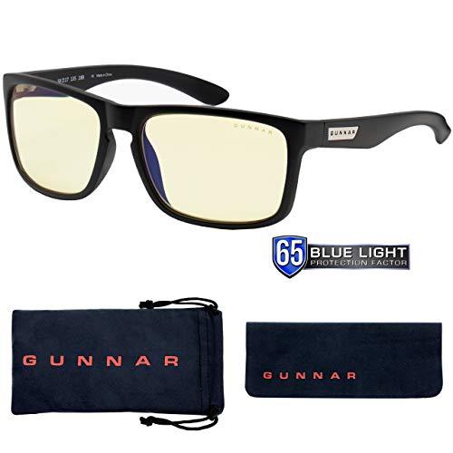 Gaming Glasses   Blue Light Blocking Glasses   Intercept/Onyx by Gunnar   65% Blue Light Protection, 100% UV Light, Anti-Reflective To Protect & Reduce Eye Strain & Dryness