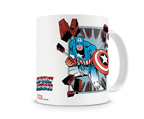 Marvel Offizielles Lizenzprodukt Captain America Comic Strip Kaffeetasse, Kaffeebecher