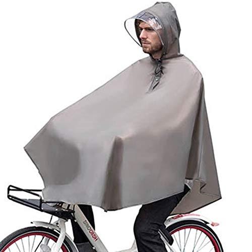 Abrigo Impermeable Al Aire Libre Impermeable Impermeable Impermeable Impermeable Poncho Fashion Fashion Bicycle Abrigos De Lluvia con Bolso Outdoors (Color : Gray, Size : One Size)