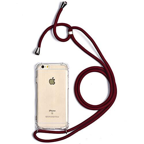 Trop Saint - Carcasa con cordón para iPhone 6 Plus y 6S Plus de Silicona Transparente