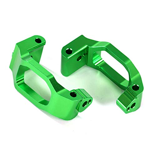 Traxxas 8932G Caster Blocks 6061-T6 Aluminum (Green-Anodized), Left & Right