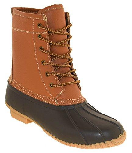 Khombu New Womens Lauren Duck Winter Rain Boots Tan Size 7 M