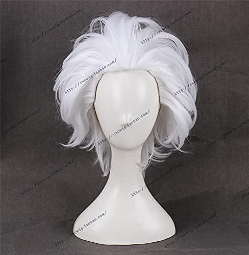 MixFactory Cos Wig Anime The Little Sirena Ursula Cosplay Wig White Short Thream Resistente al Calor Partido Sintético Pelucas SL-817 (Color : SL-817)