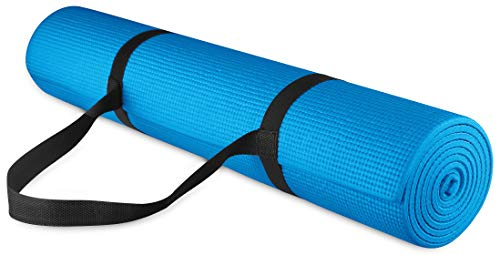 Balance From Go Yoga All-Purpose 1/4-Inch High Density Anti-Tear Exercise Yoga Mat with Carrying Strap