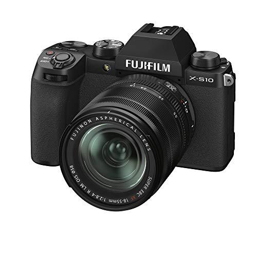 Fujifilm X-S10 Mirrorless Digital Camera, Black, with XF18-55mmF2.8-4 R LM...