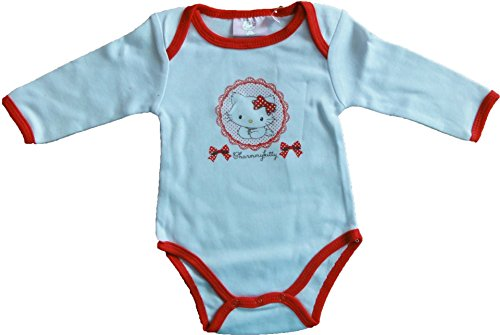 Hello Kitty Charmmy Kitty Body à manches longues pour bébé Rouge/rose/bleu clair Taille 3, 6, 12, 18, 23 mois - Rouge - 18 mois