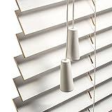 Jalousien Weiß Holz Jalousie 35mm Lamellen, 60cm / 80cm / 90cm / 110cm / 120cm / 140cm / 150cm breit, Fenster Horizontal Jalousien für Schlafzimmer/Küche/Bad (Size : 90cm×120cm/35.4in×47.2in)