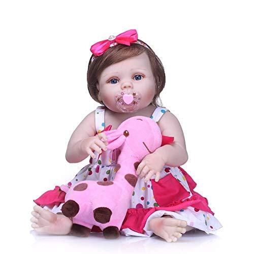 muñecos reborn, bebe reborn juguettos, reborn cuerpo entero silicona de muñeca del cuerpo suave, muñecas renacidas del silicón lleno asible, muñeca bebé la moda del renacimiento del bebé de los 55cm