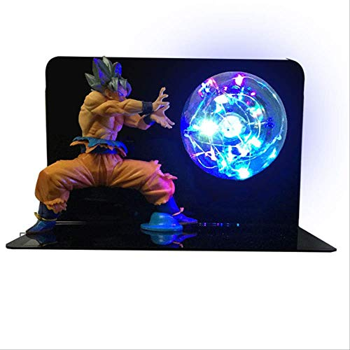 Dragon Ball Super Goku Led Light Dragon Ball Lámpara Ultra Instinct Goku Dormitorio Decorativo Night Light Regalos EU Plug silver hair goku