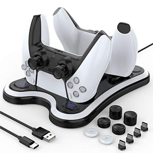 HEYSTOP Cargador Mando PS5, Carga Rápida Soporte Mando PS5